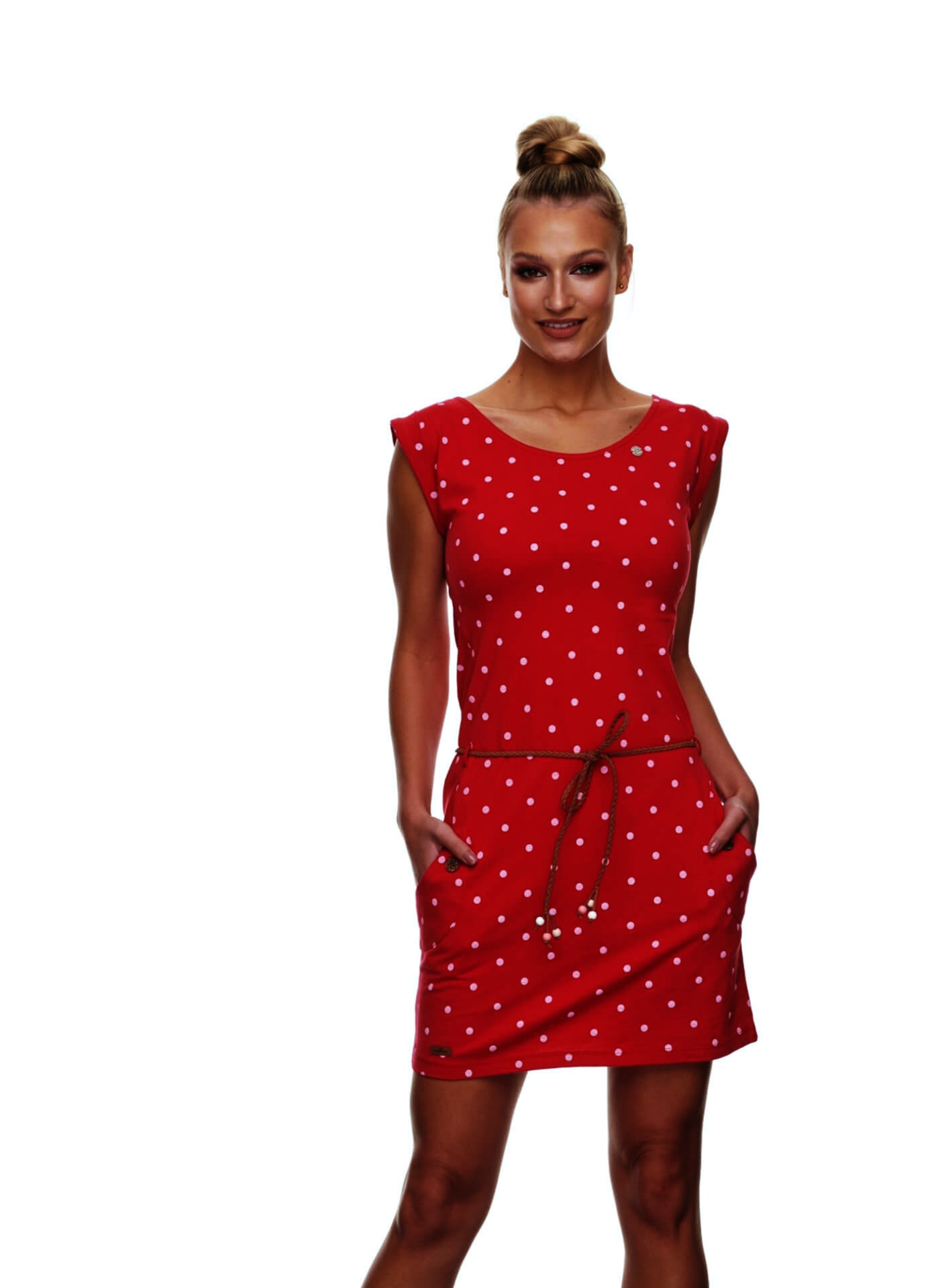 Ragwear Damen Kleid Tag Dots