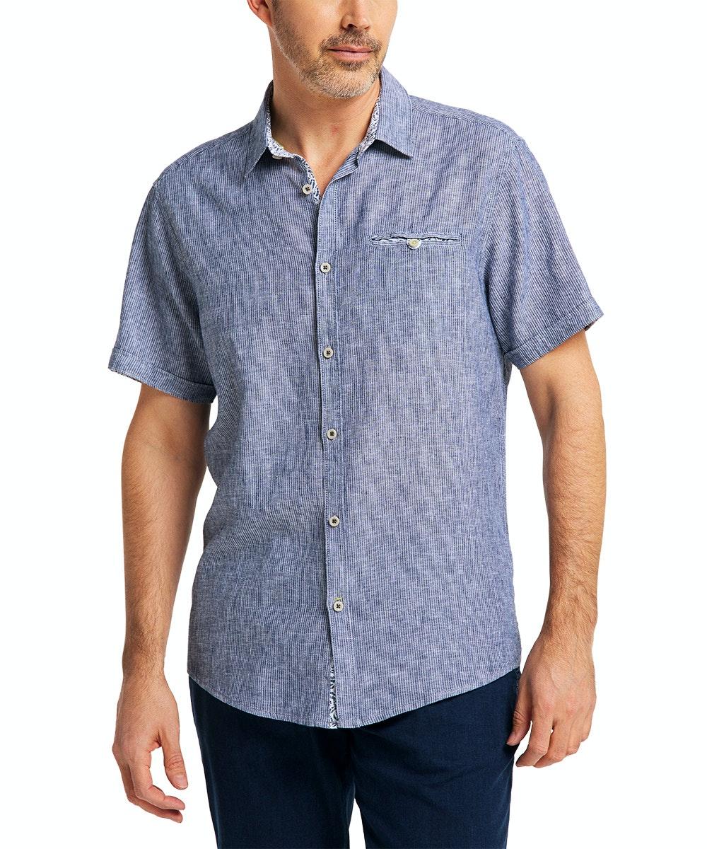 Pioneer Hemd Stripe dark blue
