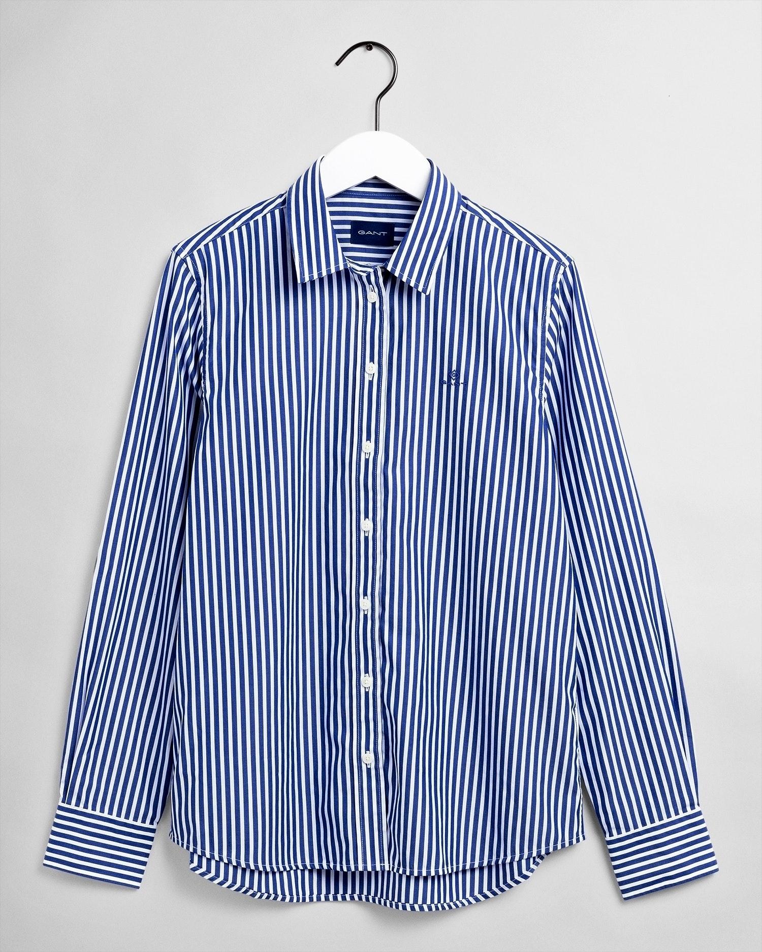 GANT Damen Bluse Broadcloth blau