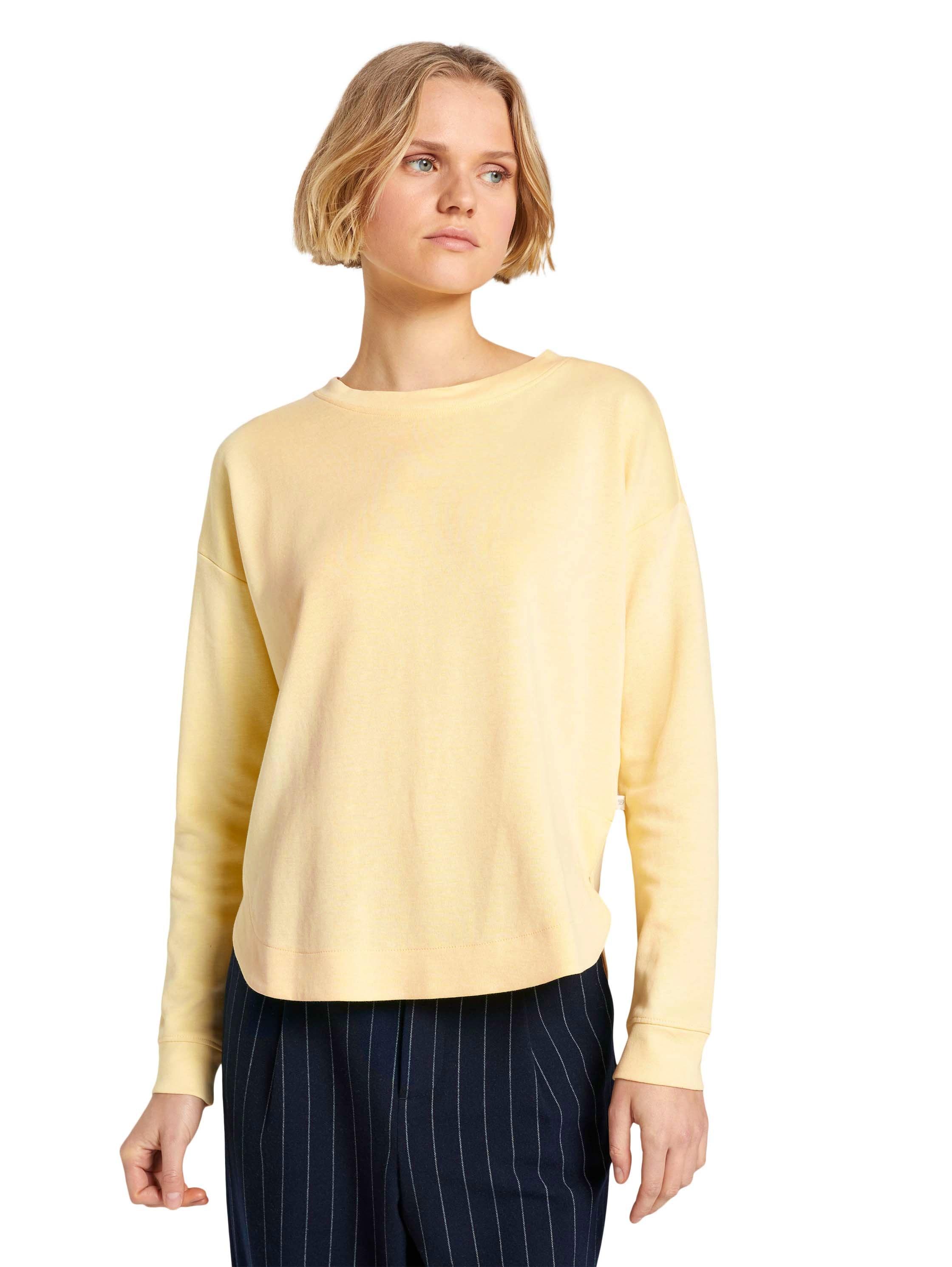 Tom Tailor Denim Pullover Hem gelb