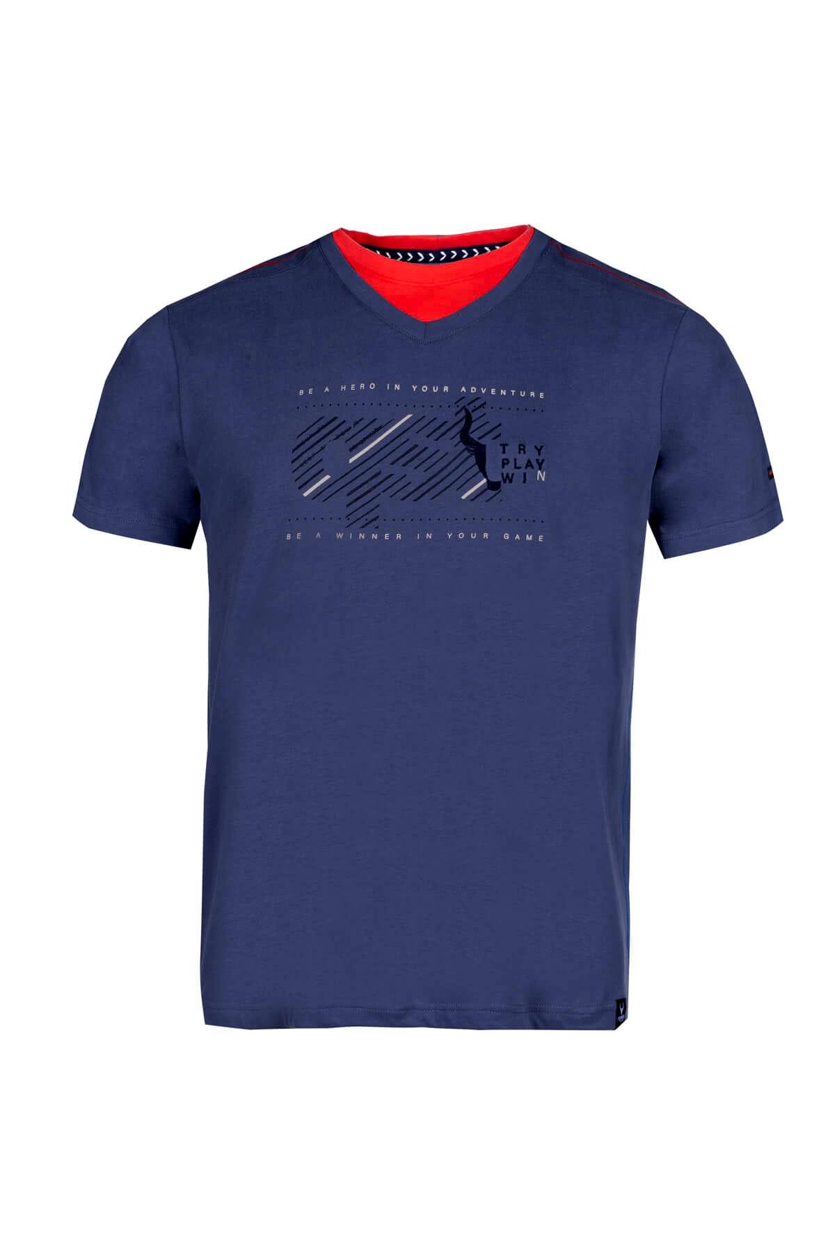 Questo Shirt Dirk blau
