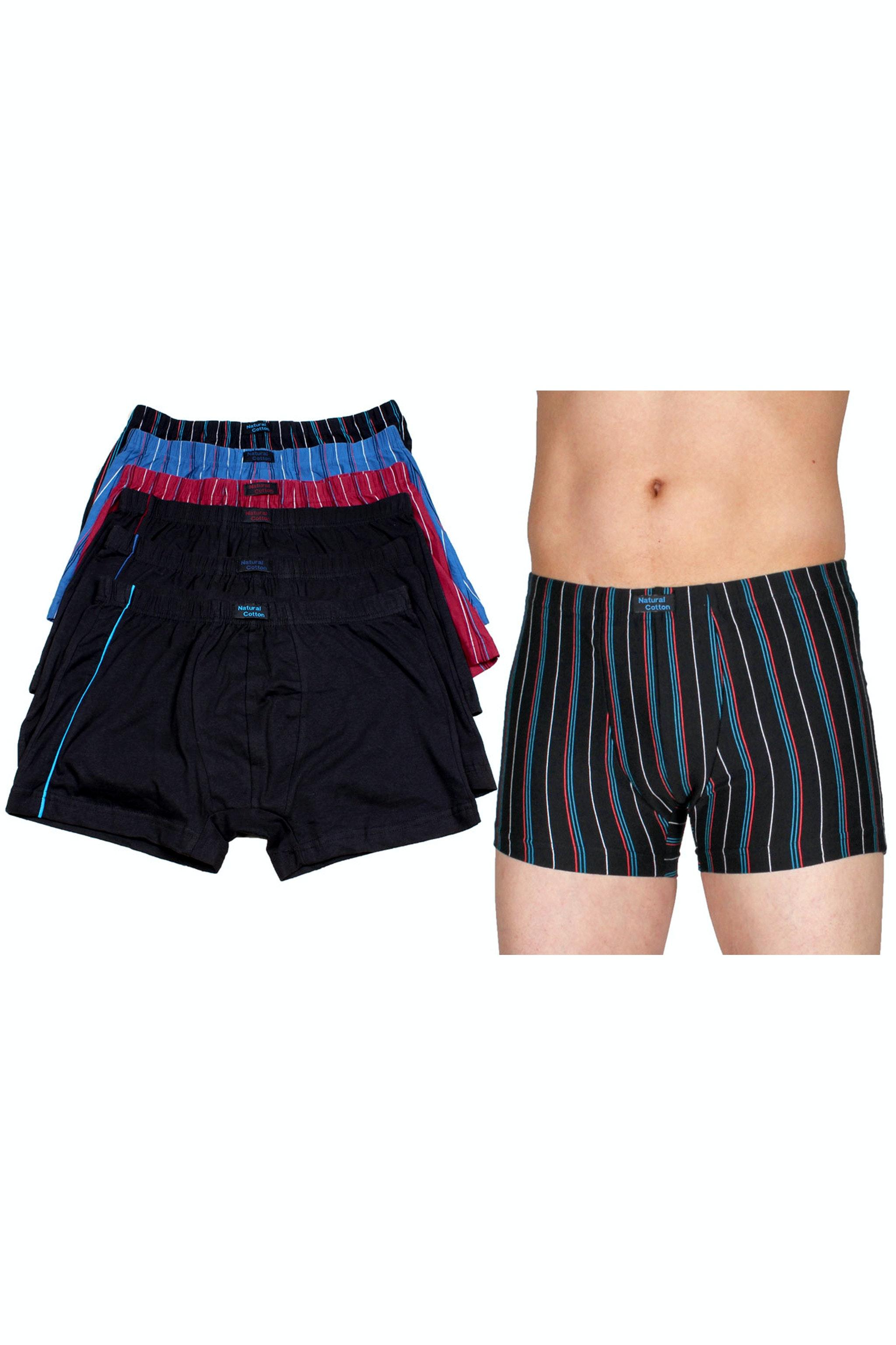2er Pack Herren Retro Boxershorts black