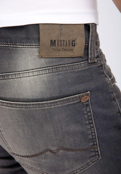 Mustang Oregon Tapered K Stretch dark grey used