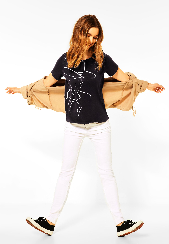 Street One Shirt Partprint Foil Girl