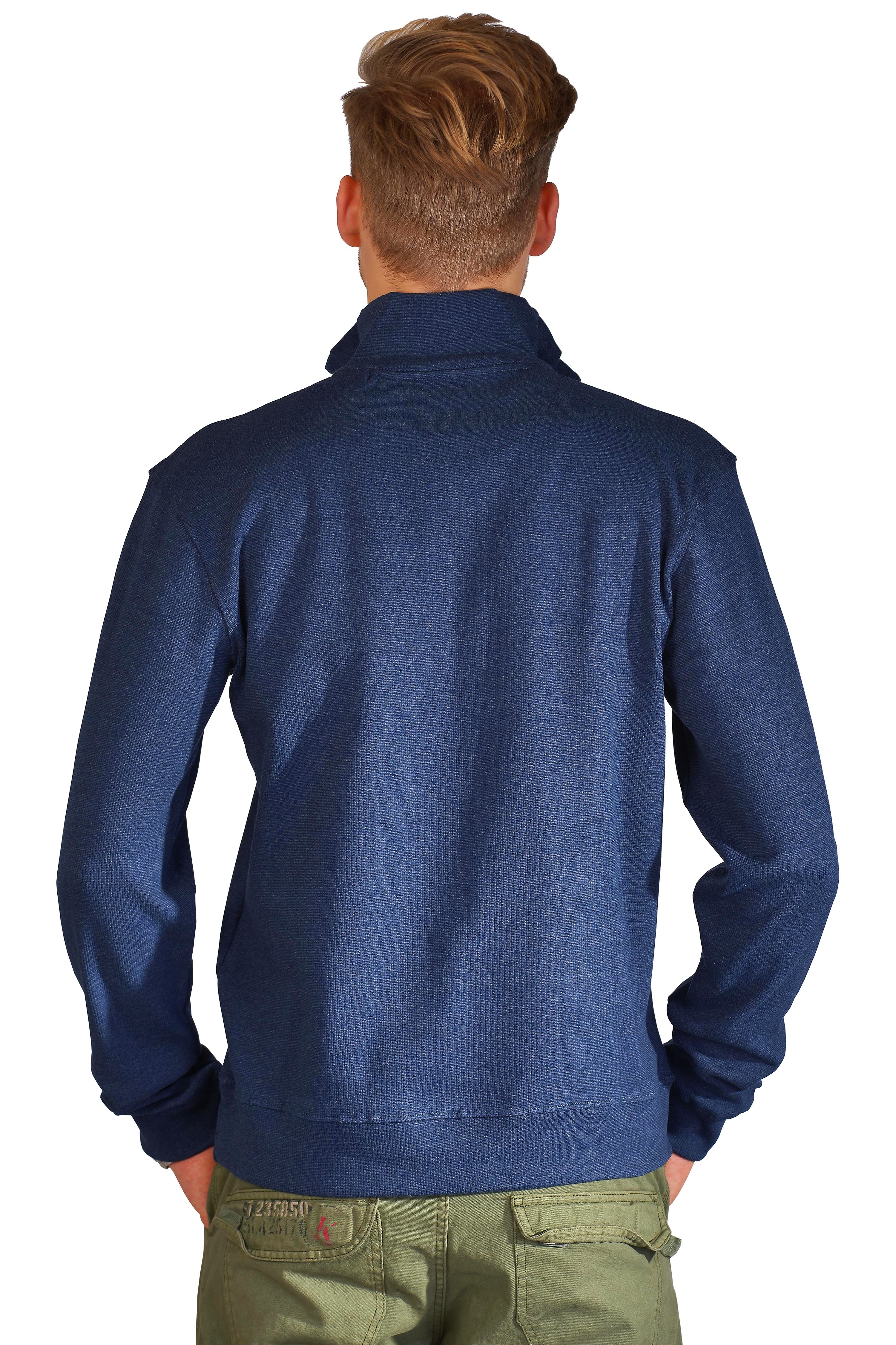 Kera Collection Pullover Troyer-Style blau