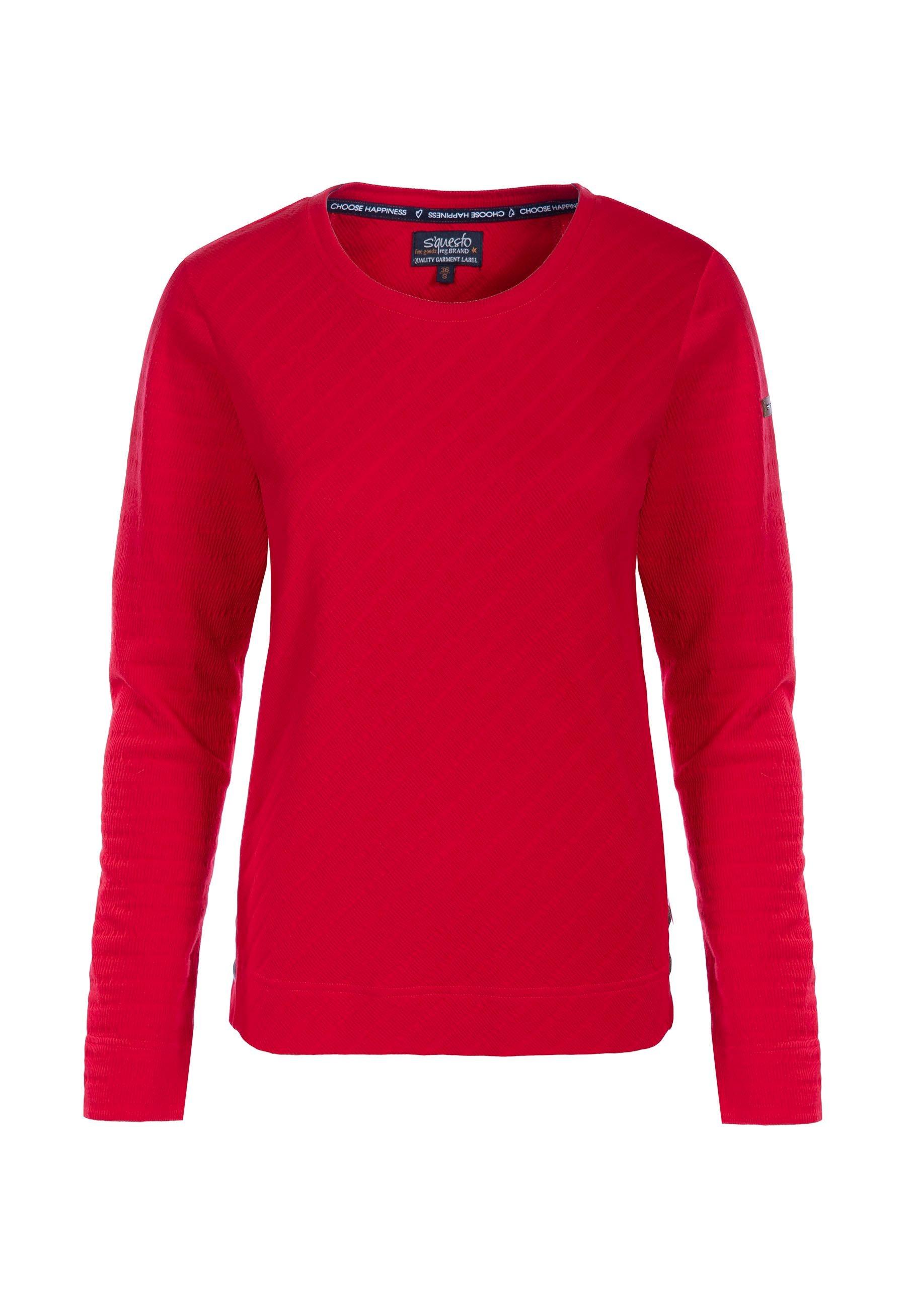 Soquesto Sweatshirt Lara in red und navy