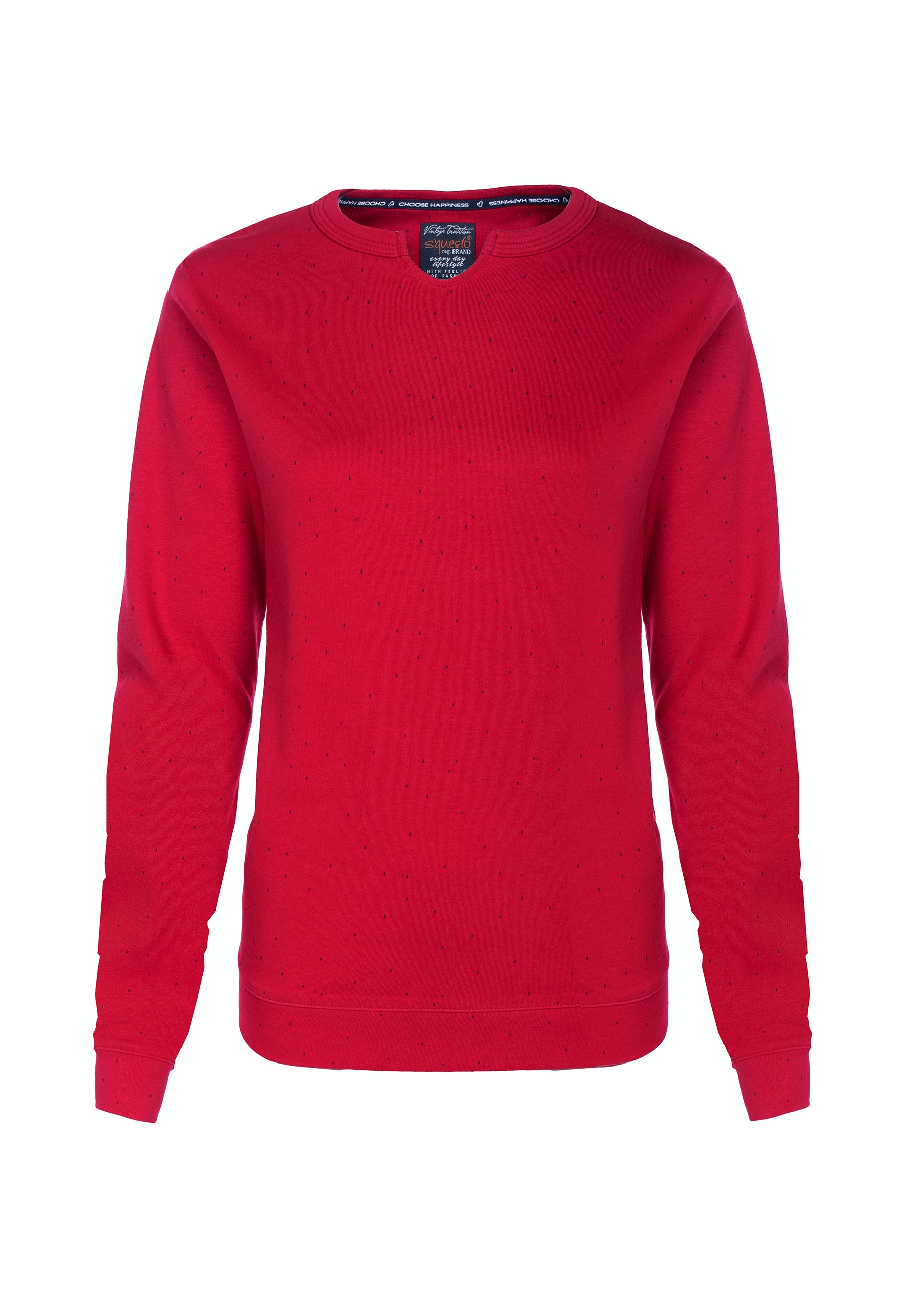 Soquesto Sweatshirt Lailani candy red