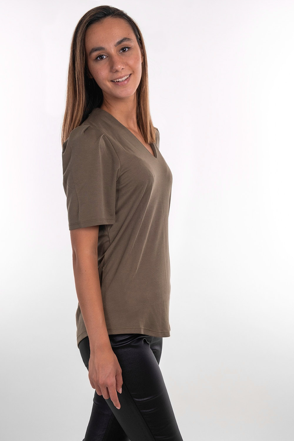 Free Quent Basic Shirt Honey in olive