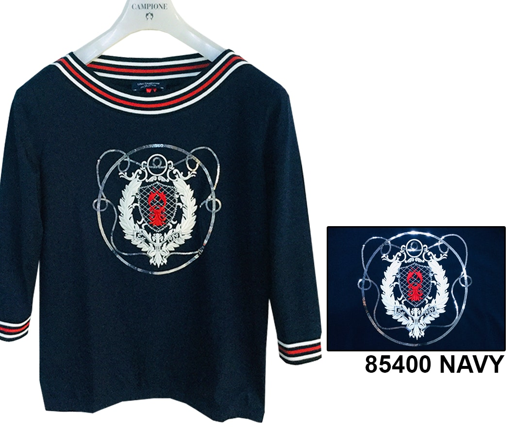 Lisa Campione Shirt Navy Inspiration