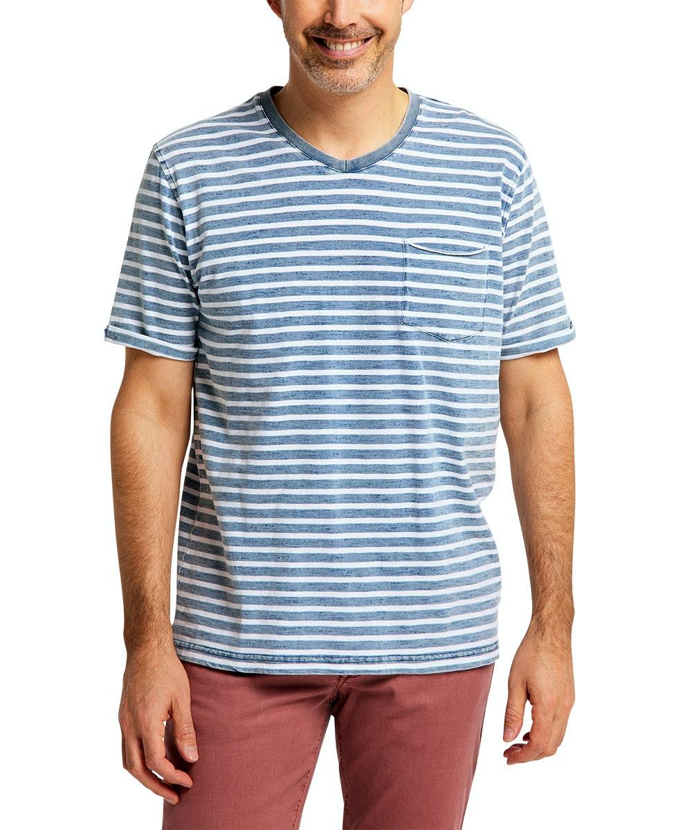 Pioneer T-Shirt Vneck Stripe